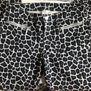 Michael Kors black and gray cheetah print jeans
